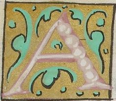 Small decorated initial from the Psalter of Henry VIII (British Library Royal MS 2 A XVI), c1540-1541, letter A f146r