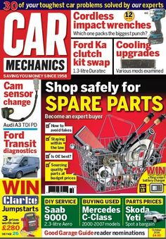 In this month's issue shop safely for spare parts - how to avoid fakes, sourcing quality parts at budget prices.    12 Cordless impact wrenches on test. Which one packs the biggest punch?    Ford Ka clutch kit swap 1.3 litre Duratec, Cooling upgrades & Ford Transit diagnostics    Win Clarke Jumpstarts 3 prizes worth over £280