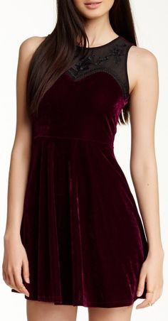 Velvet and Lace Dress Although I would like it a little longer