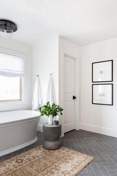 Bathroom Floor Tiles, Bathroom Renos, Bathroom Renovations, Flooring For Bathrooms, Master Bathrooms, Bathroom Ideas, Closet Remodel, Bath Remodel, Studio Mcgee
