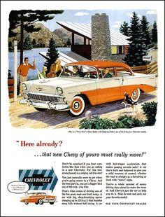 1956 Chevrolet Bel Air - 2 door hard top - in Orange and White!