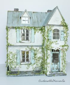 A New Design: Heritage House Custom Dollhouse (Shop Cinderella Moments) Diorama, Girls Dollhouse, Dollhouse Design, Cinderella Moments, Storybook Cottage, Fairy Houses, Doll Houses, Popsicle Stick Crafts, Glitter Houses