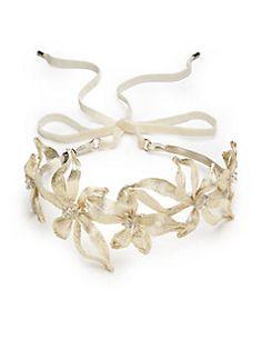 Colette Malouf - Mesh Botanical Swarovski Crystal-Embellished Headband