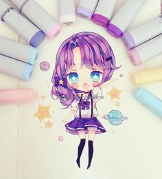 """24k Likes, 124 Comments - Yoai (Anny) ( ´ ▽ ` )ノ (@yoaihime) on Instagram: """"By the time I remembered what I said yesterday about trying to draw something without purple and…"""""""