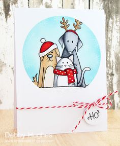 limedoodle, Simon Says Stamp, Christmas, card, cat, dog, pet