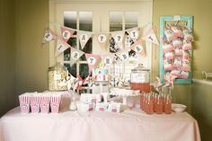 Love this simplicity of this one. Indoor carnival themed birthday. I want Kameron's birthday to be low key and definitely not over the top. Simple yet elegant. Something nice to remember in pictures but not expensive.