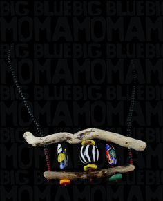 A very energetic piece reminiscent of a classic circus theme. Love these black and white striped beads and have been using them a lot lately to add some contrast to my work. Driftwood Jewelry, Rustic Jewelry, Circus Theme, Recycled Glass, Glass Beads, Contrast, Black And White, Classic, Blue