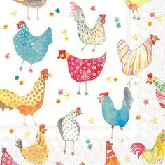 Jolly Hens Paper Napkins