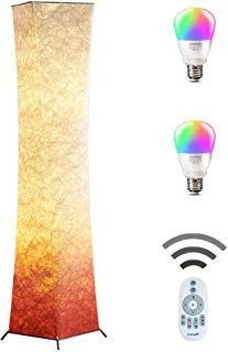 Sunllipe Led Remote Control Floor Lamp Acrylic Shade 18w Dimmable
