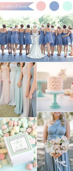 pantone serenity blue and mint green wedding color ideas 2016 with rose quartz