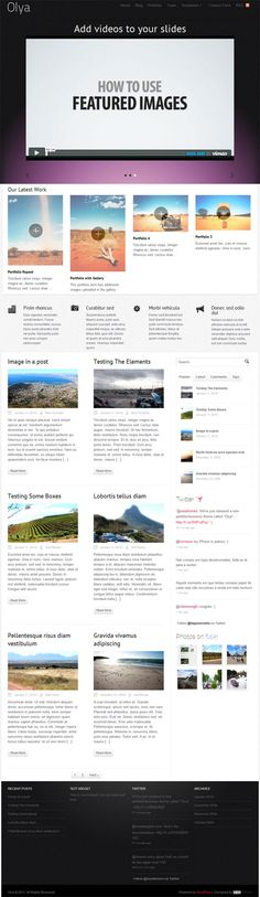 powerful business portfolio premium WordPress theme from WooThemes