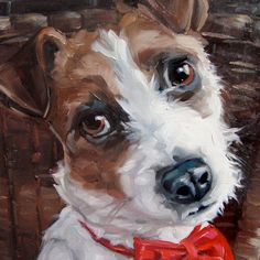Masterjack Custom Pet Portrait Oil Painting By Puci Etsy - Jack Russell Terrier Dash Cordially Invites You To Check Out This Listing For The Custom Oil Portrait Painting In The X Size Heres The Scoop E A Start By Sending Me Some Photos Of The Spec Simple Oil Painting, Oil Painting Abstract, Painting & Drawing, Painting Frames, Dog Artwork, Bird Artwork, Oil Painting Pictures, Painting Videos, Painting Techniques