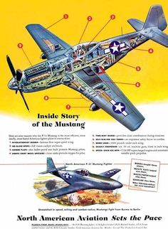Vintage P-51 advertisement. #p51 #mustang