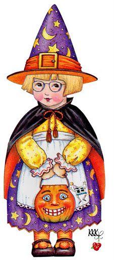 Trick or Treat Ann Estelle #Halloween #MaryEngelbreit