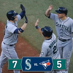 LoMo homers twice as #Mariners wrap up road trip with 7-5 win over #BlueJays.