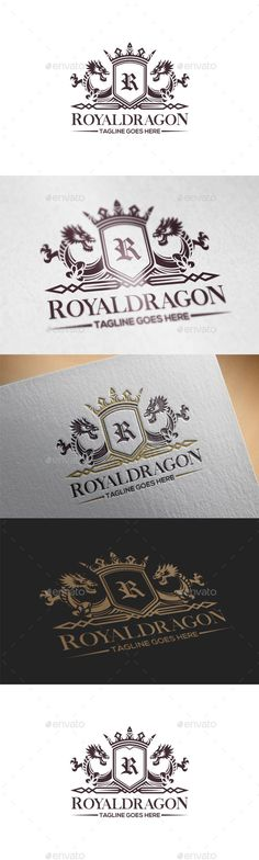 Dragon Crest Logo Template Vector EPS, AI. Download here: http://graphicriver.net/item/dragon-crest-logo-template/15660540?ref=ksioks