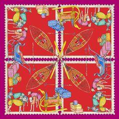 Autumn Winter 2014 – A GRAND VOYAGE    Excursion Crimson Wool Cashmere Blend 135x135 cm #Luxury  #Lifestyle #Silk #Scarves