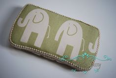 Baby Wipe Case  Natural Elephant Covered by CutenSassyCreations, $10.00