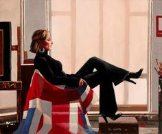 Portrait of Zara Philips painted by Jack Vettriano as part of Sports Portraits, a fund raising project for Sport Relief 2008.The proceeds from the auction went to Sport Relief, an initiative of Comic Relief, a charity registered in England