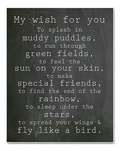 """My Wish For You"" Nursery Art Chalkboard Typography Print, Perfect Christening, Bapstism or New Baby Gift, Source by Related posts: Baby Quotes – Newborn Quote Now Quotes, Quotes For Kids, Family Quotes, Great Quotes, Quotes To Live By, Inspirational Quotes, Quotes Children, Quotes About Babies, New Baby Girl Quotes"