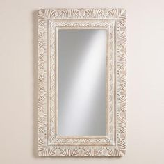 White Feather Paige Mirror from Cost Plus World Market. Shop more products from Cost Plus World Market on Wanelo. Mirror Above Fireplace, Leaning Floor Mirror, Master Bedroom Redo, Master Bathroom, Diy Mirror, Wall Mirror, White Feathers, Design Elements, Inspiration