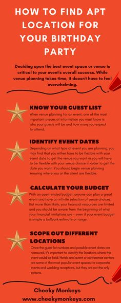 Deciding upon the best event space or venue is critical to your event's overall success. While venue planning takes time, it doesn't have to feel overwhelming. For many, professional event planners and amateurs alike, it can actually be a fun challenge.