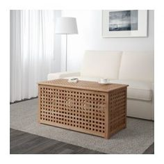 IKEA - HOL, Storage table, acacia, Solid wood, a durable natural material. Practical storage space underneath the table top. Ikea White Side Table, Ikea Lack Side Table, Ikea Lack Coffee Table, Side Table With Storage, Black Side Table, Coffee Tables, Console Table Canada, Bedside Table Ikea, Wooden Console Table