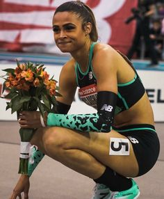 Huge congrats to the new world record holder. Blessed to be a part of such an amazing group of… Olympic Track And Field, Track Field, Sydney Mclaughlin, Weight Loose Tips, Sport Hair, Track Quotes, Girls Run The World, Olympic Sports, Sporty Girls