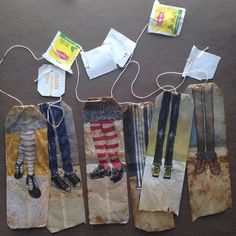 363 days of tea. Day 50. #recycled #tea bag #art #painting #mixedmedia #journal