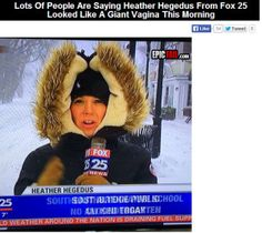 Reporters Head Looks Like A Giant Vag