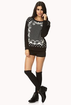 Baroque Sweatshirt   FOREVER 21 - 2000074244