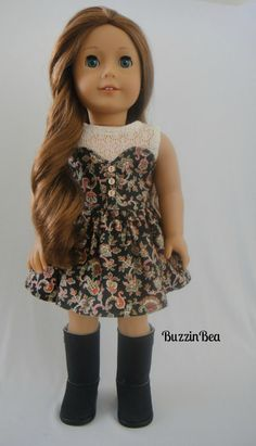 Lascaux Sweetheart Dress in Paisley Print with Lace Tank by BuzzinBea on Etsy  $26.00