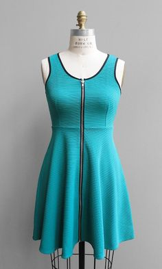 Zip Front Skater Dress http://www.shopsubstance.com/