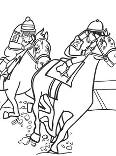 Sport Horse Racing Coloring Pages