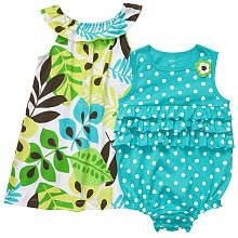 """Carter's Girls Floral Dot Sunsuit 2 Pack - Turquoise - Carters - Babies """"R"""" Us"""