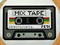 Retro cassette, eighties. Easy counted x-stitch Modern Cross Stitch Patterns, Cross Stitch Designs, Vintage Embroidery, Embroidery Patterns, Cross Stitching, Cross Stitch Embroidery, Cross Stitch Hoop, Lazy Daisy Stitch, Cassette Tape