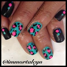Instagram photo by  immortalcyn  Love the colors together. I would leave the black nails just plain black