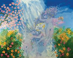 Μια Νύχτα στο Μουσείο: Γ. ΣΤΑΘΟΠΟΥΛΟΣ - 9 ΠΙΝΑΚΕΣ ΓΙΑ 1 ΤΡΑΓΟΥΔΙ Contemporary Decorative Art, Naive Art, Flower Art, Folk Art, Night, Artwork, Flowers, Painting, Art Work