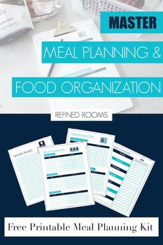 Make the most of your food with this free Meal Planning Printable Kit. Includes a freezer & pantry inventory, menu planner, grocery list & meal ideas list. Pantry Inventory Printable, Grocery List Printable, Meal Planning Printable, Weekly Menu Planners, Meal Planner, Personal Planners, Recipe Organization, Pantry Organization, Pantry Shelving