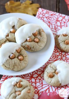 White Chocolate-Dipped Soft-Baked Butterscotch Cookies - one of THE BEST cookies recipes. So soft and packed with flavor!