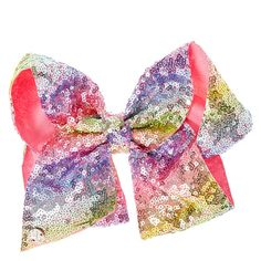 Girls' Accessories Hair Accessories Jojo Pink Sequin Large Clip On Hair Bow Worn Once Be Friendly In Use