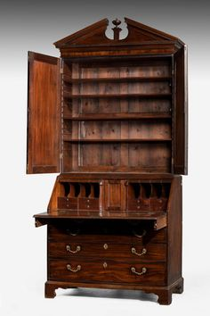 Late 18th century mahogany Bureau Bookcase (Ref No. 7405) - Windsor House Antiques