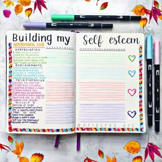 health journal Managing mental health is so important. It gives me insight to the thoughts Im encouraging, whether theyre positive or negative. Bullet Journal Inspo, Bullet Journal Notebook, Bullet Journal Themes, Bullet Journal Ideas Pages, Bullet Journal Layout, My Journal, Daily Journal, Bullet Journal Mental Health, Self Care Bullet Journal