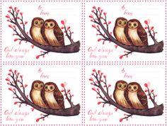 Owl Valentine Card #hoot #Owl #Valentine #Card #free #freebie #printable