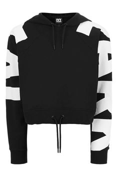 Logo Sleeve Cropped Hoodie by Ivy Park - Topshop USA