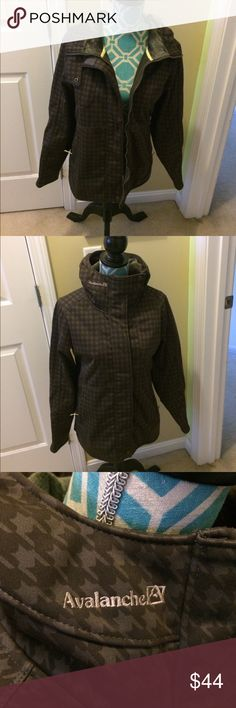 Avalanche Outerwear/rain jacket , size M Avalanche outerwear/ rain jacket , size m , color light and dark brown. Angled checkered print. NWOT. Very nice! avalanche Jackets & Coats