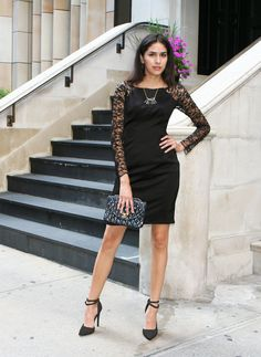 Fashion, Little black dress, cocktail dress, party dress, lace, nyc