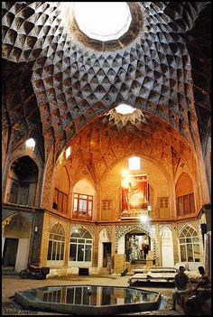 Timche Amin o Douleh - Bazar of Kashan    Despite the new shopping centers in the big cities of IRAN, in most old Iranian cities, the traditional bazaars, conserve their main role in the Urban Spaces of these cities. by SHAD KAR, via Flickr