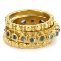 "robindira unsworth ""darjeeling"" london blue topaz rings"