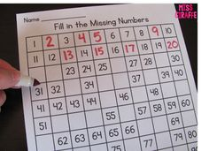 Tons of 120 chart worksheets and activities to build number sense